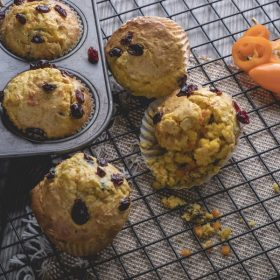 Mini Sweet Pepper and Orange Cranberry Muffins