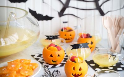 Bubbling Witches Brew and Fruit Cups