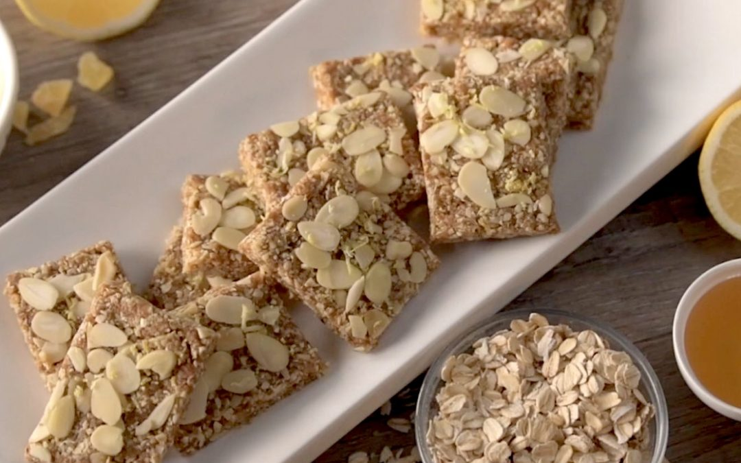 Lemon Ginger No-Bake Snack Bars