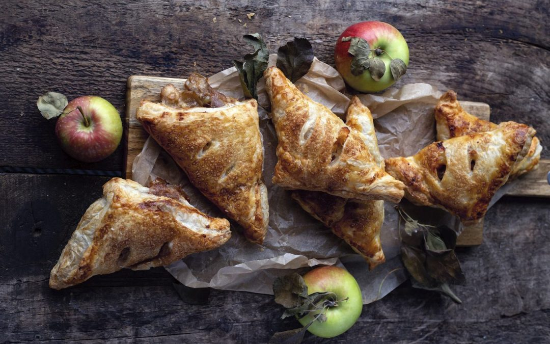 Apple Chutney and Smoked Cheddar Turnovers