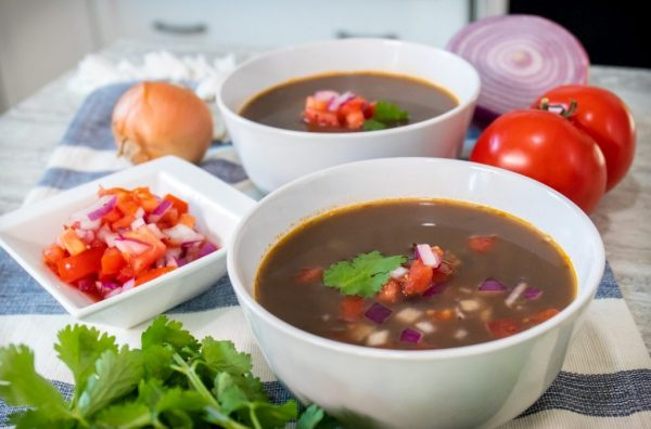 black bean vegan soup
