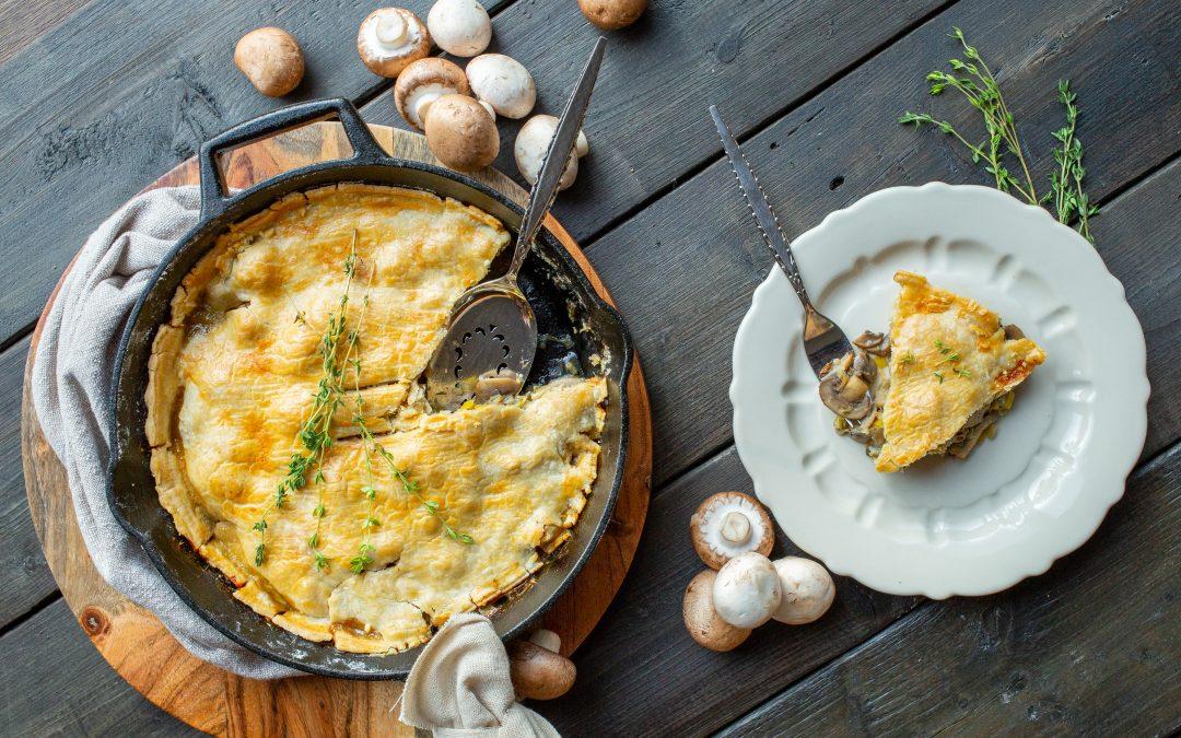 Mushroom, Apple and Blue Cheese Cast Iron Skillet Pie