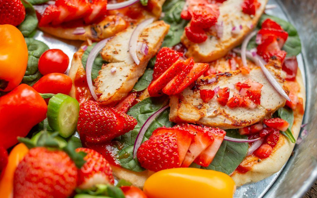 Chicken and Strawberry Flatbread