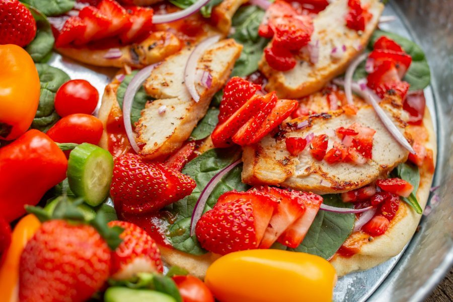 Chicken and Strawberry Flatbread