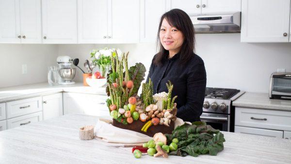 Asparagus Centerpiece with StemsandForks WEB