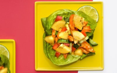 Korean Lettuce Cups with SunGold Kiwifruit