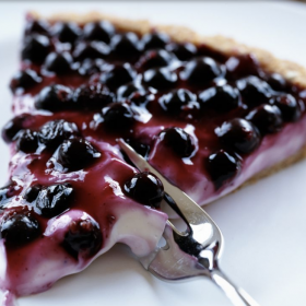 Ontario Blueberry Ice Cream Pie