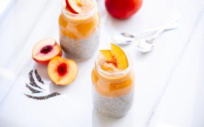 Peach Chia Pudding