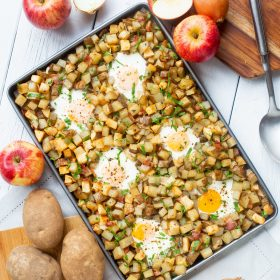 Sheet Pan Hash with Eggs