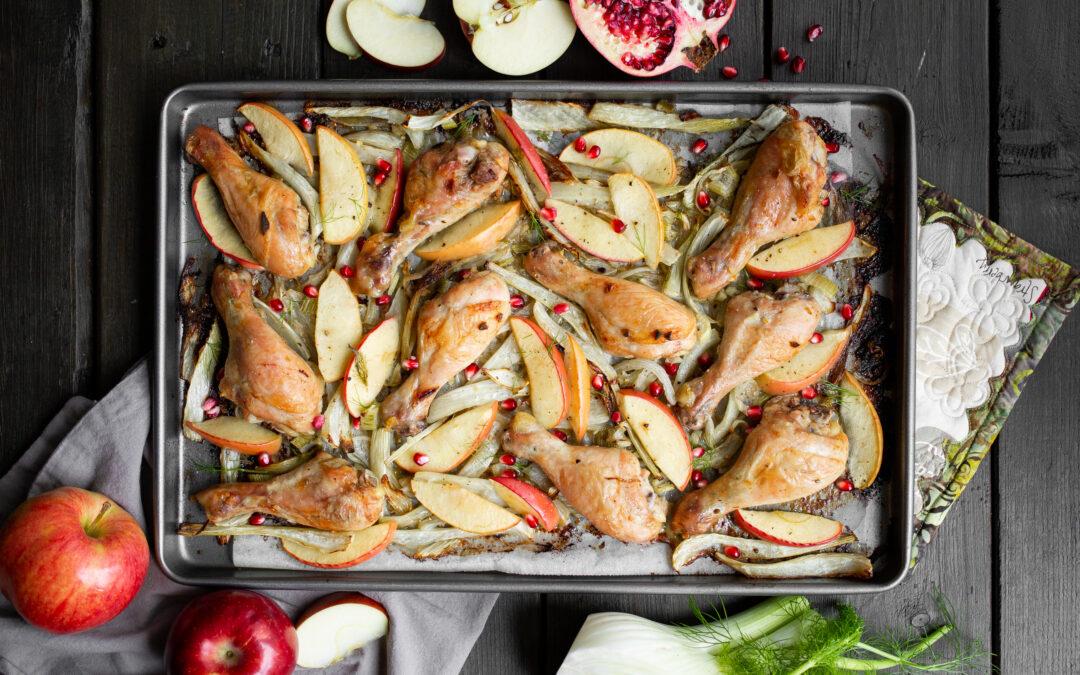 Apple Fennel Chicken Sheet Pan Dinner