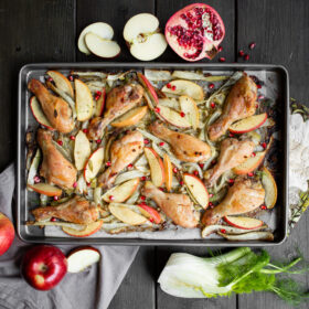Apple Fennel Chicken Sheet Pan Dinner