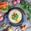 Potato Chowder Soup with Dill Pesto and Croutons