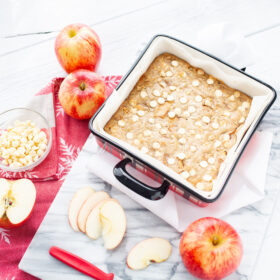 Apple White Chocolate Blondies