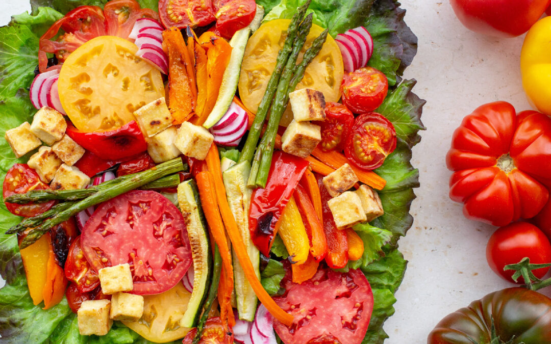 Grilled Tomato Salad with Tofu