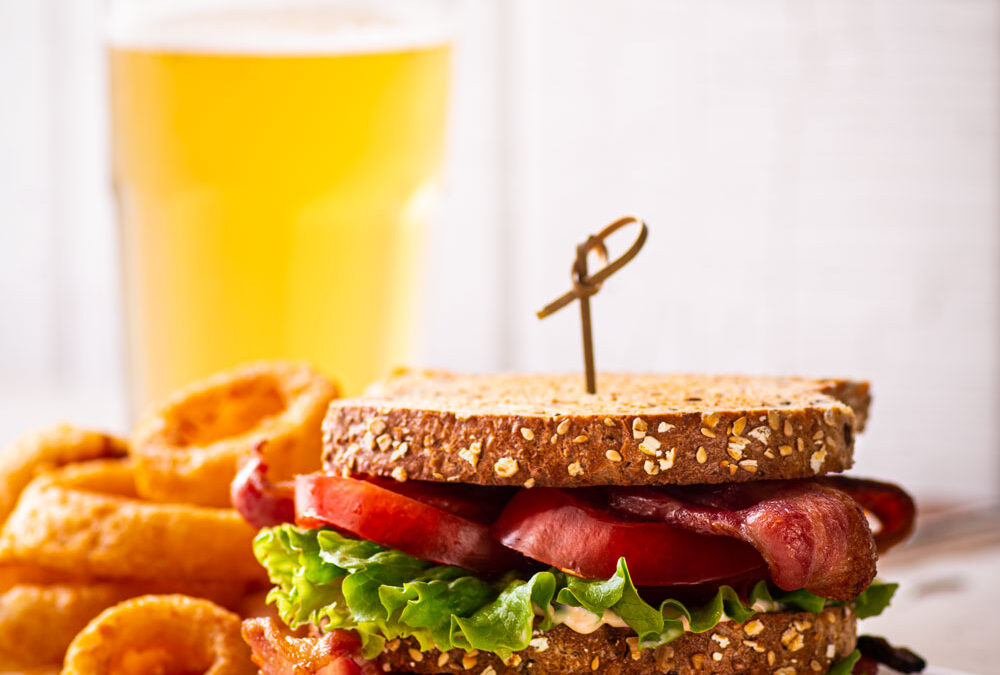 Double Decker BLT with Roasted Red Pepper Mayo