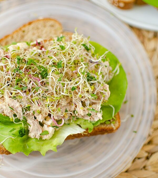 Tuna Salad with Sprouts