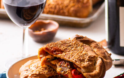 """Sausage"" & Pepper Calzones"