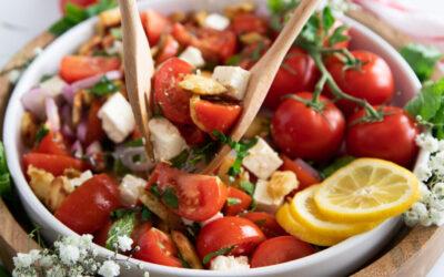 Juicy Mediterranean Tomato Bread Salad