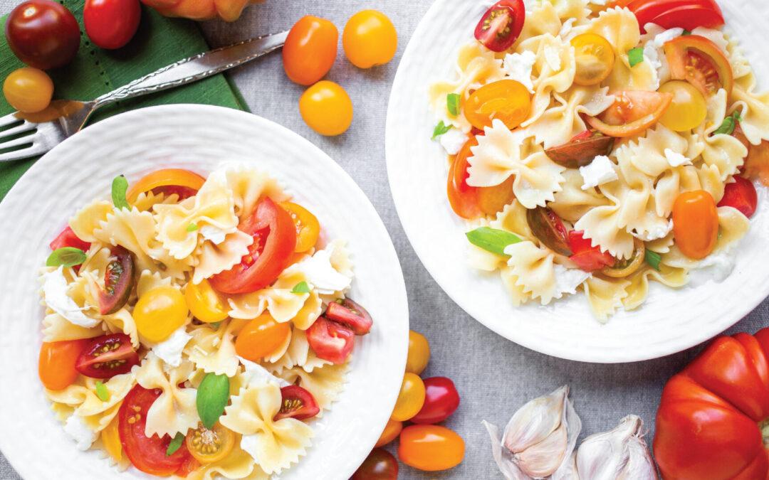 Fresh Tomato Sauce with Farfalle