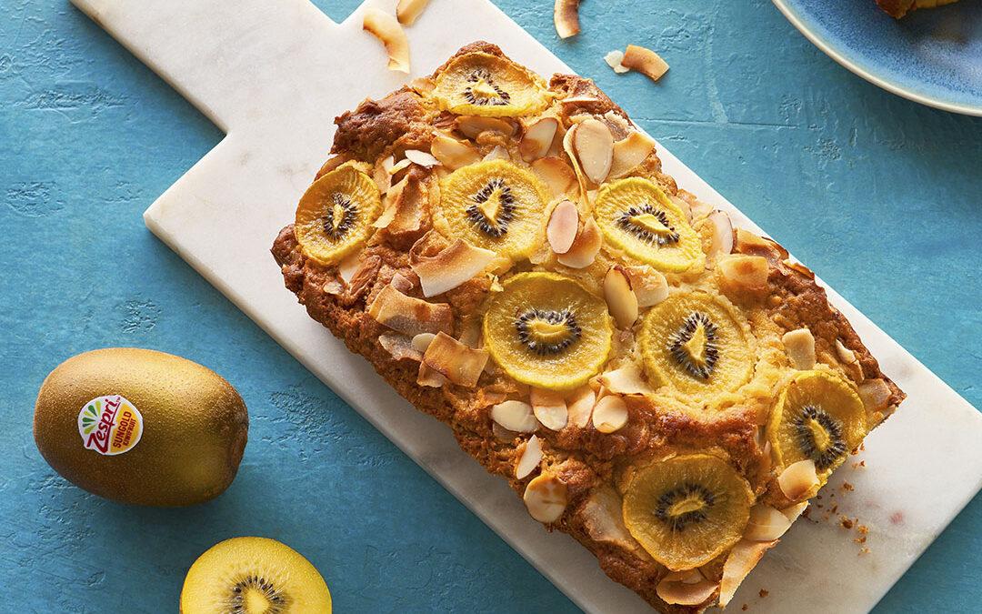 Lemony Almond ZespriTM SunGold TM Kiwi Bread