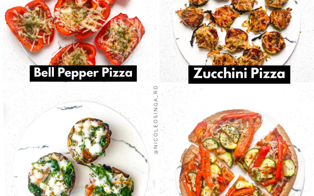 Veggie Pizzas Four Ways